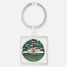 The Wisdom Tree Square Keychain