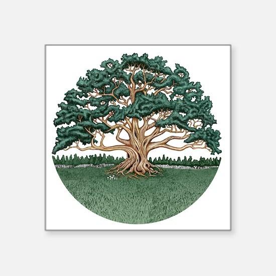 "The Wisdom Tree Square Sticker 3"" x 3"""
