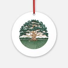 The Wisdom Tree Round Ornament