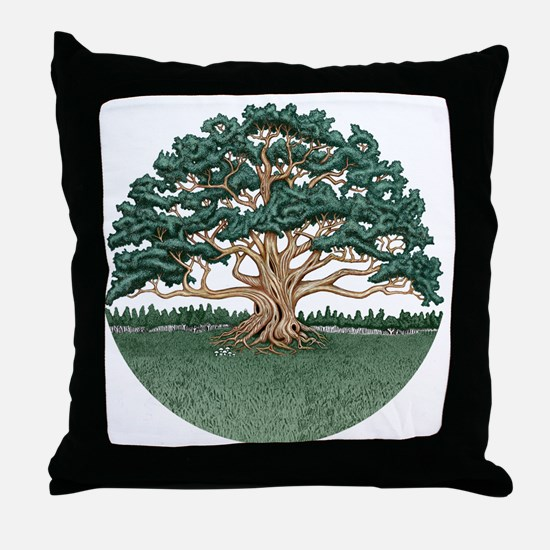 The Wisdom Tree Throw Pillow