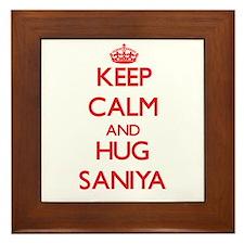 Keep Calm and Hug Saniya Framed Tile