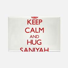 Keep Calm and Hug Saniyah Magnets