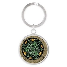 Celtic Lilly Round Keychain
