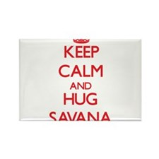 Keep Calm and Hug Savana Magnets