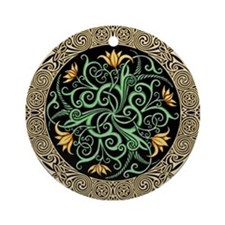 Celtic Lilly Ornament (Round)