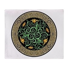 Celtic Lilly Throw Blanket