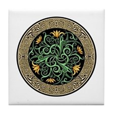 Celtic Lilly Tile Coaster