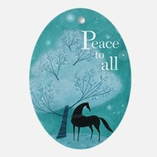 'Peace To All' Christmas Ornament