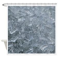 Raw Ice Shower Curtain