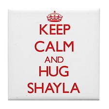 Keep Calm and Hug Shayla Tile Coaster