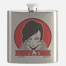 Muay Thai girl 1 Flask