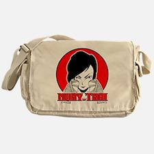 Muay Thai girl 1 Messenger Bag