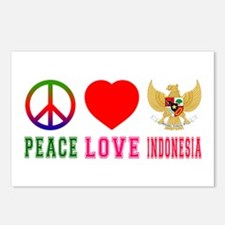 Peace Love Indonesia Postcards (Package of 8)