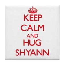 Keep Calm and Hug Shyann Tile Coaster