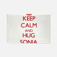 Keep Calm and Hug Sonia Magnets