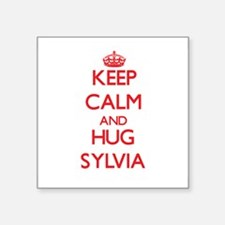 Keep Calm and Hug Sylvia Sticker