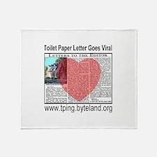 Toilet Paper Letter Gone Viral Throw Blanket