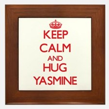 Keep Calm and Hug Yasmine Framed Tile