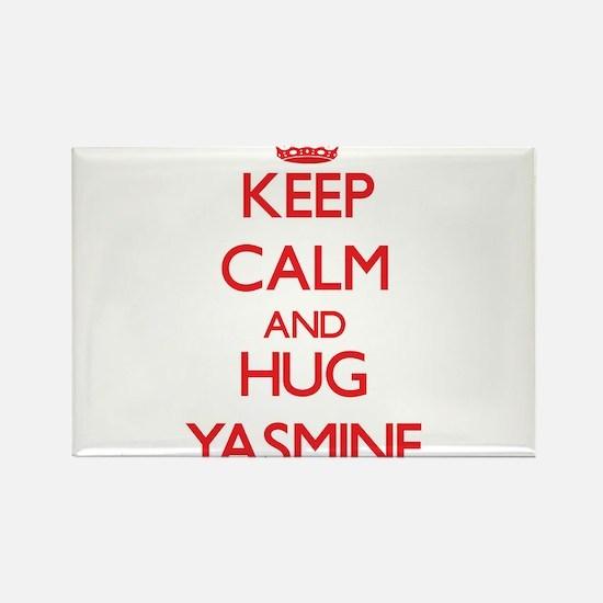 Keep Calm and Hug Yasmine Magnets