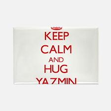 Keep Calm and Hug Yazmin Magnets