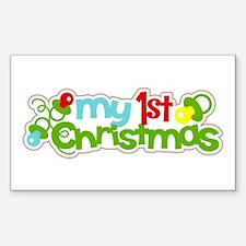 My 1st Christmas Decal