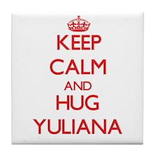 Keep Calm and Hug Yuliana Tile Coaster