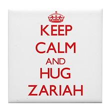 Keep Calm and Hug Zariah Tile Coaster