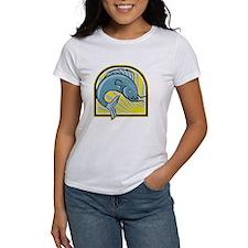 Catfish Jumping Sunburst Cartoon T-Shirt