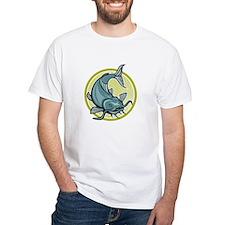 Catfish Attacking Circle Cartoon T-Shirt