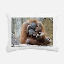 OrangUtan001a Rectangular Canvas Pillow