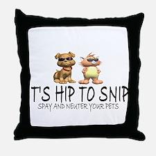 Hip To Snip Throw Pillow