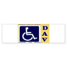 Disabled American Veteran Bumper Bumper Sticker