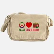Peace Love Hungary Messenger Bag