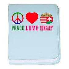 Peace Love Hungary baby blanket