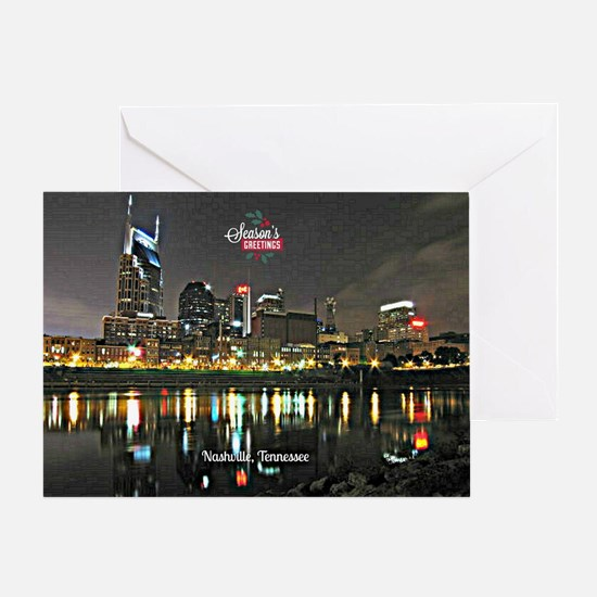 Season's Greetings from Nashville, T Greeting Card