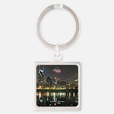 Season's Greetings from Nashville, Square Keychain