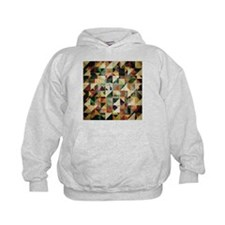 Earth Tones Abstract Hoodie