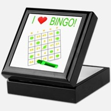 Bingo Love - Green Keepsake Box