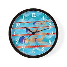Little Swimmer Boy Wall Clock