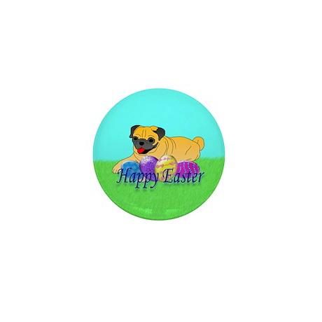 Fawn Pug Mini Button
