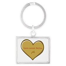 Love never fails Keychains