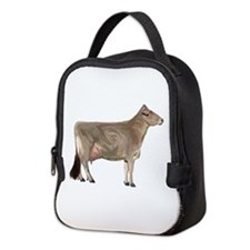 Brown Swiss Dairy Cow Neoprene Lunch Bag