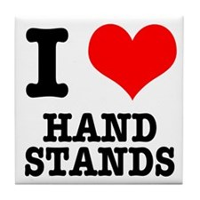 I Heart (Love) Handstands Tile Coaster