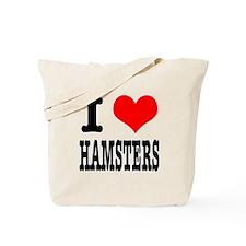 I Heart (Love) Hamsters Tote Bag