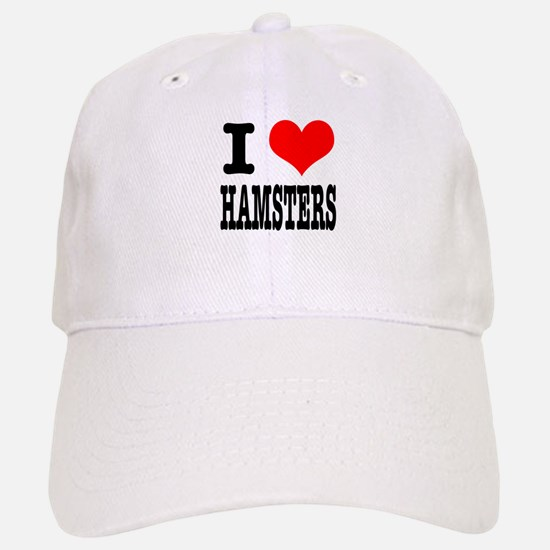 I Heart (Love) Hamsters Baseball Baseball Cap