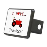 I Love Red Tractors Rectangular Hitch Cover