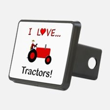 I Love Red Tractors Hitch Cover