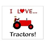 I Love Red Tractors Small Poster