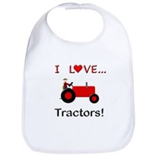 I Love Red Tractors Bib
