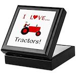 I Love Red Tractors Keepsake Box